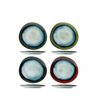 Cosy & Trendy Jamiro-Mix - Dessertbord - 20,5x19,5cm - Keramiek - (Set van 4)