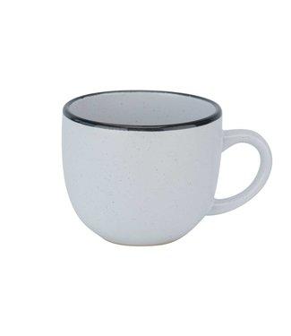 Cosy & Trendy Speckle White Cup 24cl D8,5xh7,1cmblack Rim