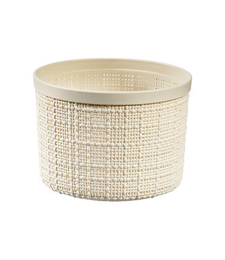 Curver Jute Opbergbox Wit Rond 2l D17,1xh12.6 Rond Offwhite