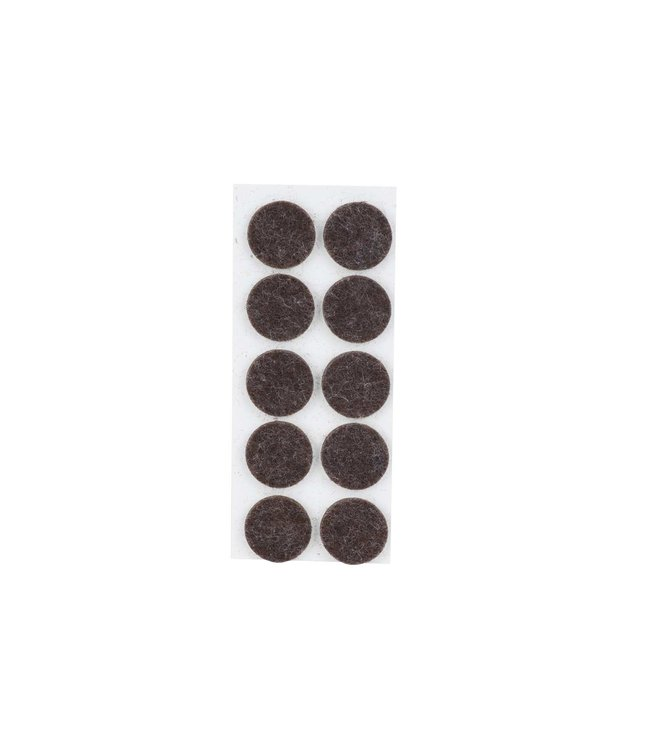 Cosy & Trendy Antislip - Zwart - D2,2cm - Vilt - (set van 20)