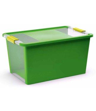 Kis Bi-box - Storage box L - Green - 40 liters - 58x35,2xh44,5cm - (Set of 5)
