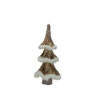 Cosy @ Home Kerstboom Bark Natuur 24x24xh58cm Kunststof