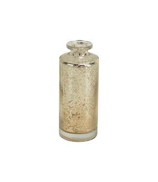 Cosy @ Home Vase Antique Stripe Diagonal Silber 5,5x5,5xh13,5cm Rund Glas (4er Set)