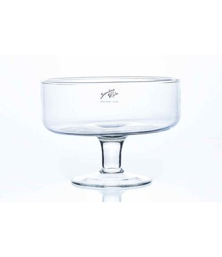 Sandra Rich Bowl On Foot Transparant 18x18xh14cm Rond Glas