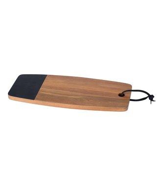 Cosy & Trendy Acacia - Dienblad - Met krijtvlak - 35x15xh1,5cm - Natuur - Hout