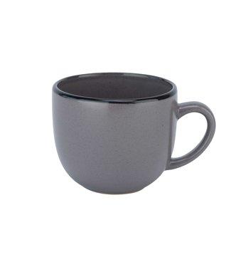 Cosy & Trendy Speckle Grey Cup 24cl D8,5xh7,1cmblack Rim