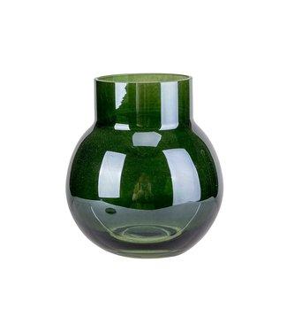Cosy @ Home Vase Dunkel Grun D9xh10cm Glas (4er Set)