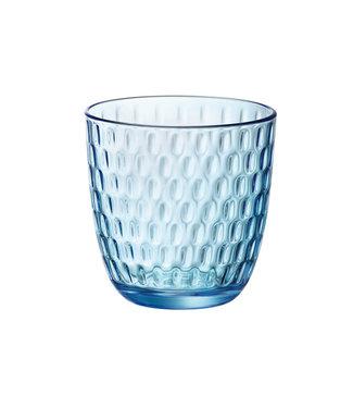 Bormioli Slot Glas 29cl Blau Set 6