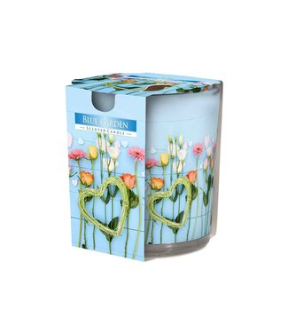Cosy & Trendy Ct Scented Candle Glass Blue Garden 22hrs D7xh8cm (6er Set)