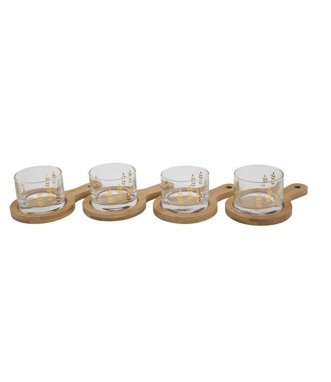 Cosy & Trendy Aperoset - 8-Delig - 4 Glazen Met 4 Plankjes