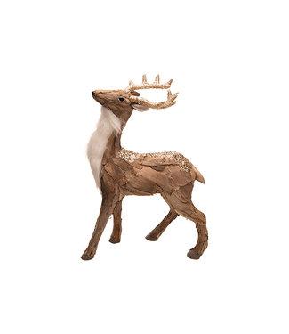Cosy @ Home Hert Bark Natuur 36x16xh51cm Kunststof