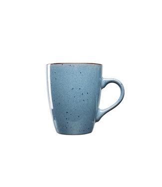 Cosy & Trendy Corfu-Blue - Beker - D8,7xh10,5cm - 35cl - Keramiek - (set van 6)-