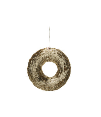 Cosy @ Home Krans Straw Goud D20xh4cm
