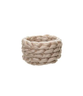 Cosy @ Home Flowerpot Braid Pink D20xh11cm Wool