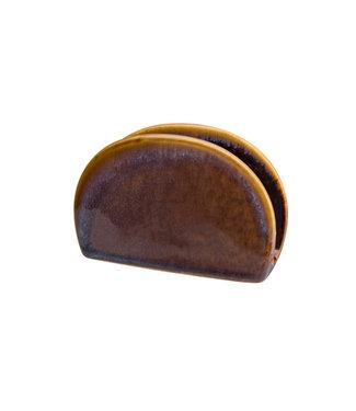 Cosy & Trendy Ararat - Servethouder - 11,5x3,5xh7,7cm - Keramiek - (set van 2)