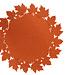Cosy @ Home Placemat Leaf Orange D35cm Filz