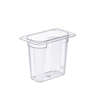 Araven Basic Container Gn1-9 H15cm 1.2l Pcwithout Lid 17.6x10.8cm (set of 6)