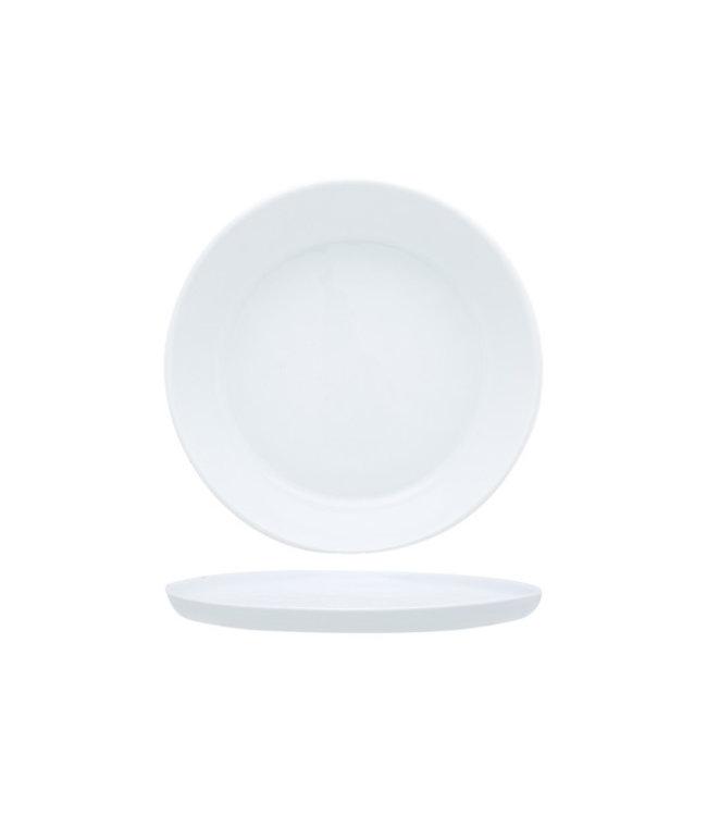 Cosy & Trendy Alba - Dessertbord - Wit - D21,7xh1,4cm - Porselein - (Set van 6)