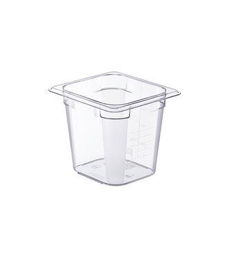 Araven Basic Container Gn1-6 H15cm 2.3l Pcwithout Lid 17.6x16.2cm Transparent (set of 6)