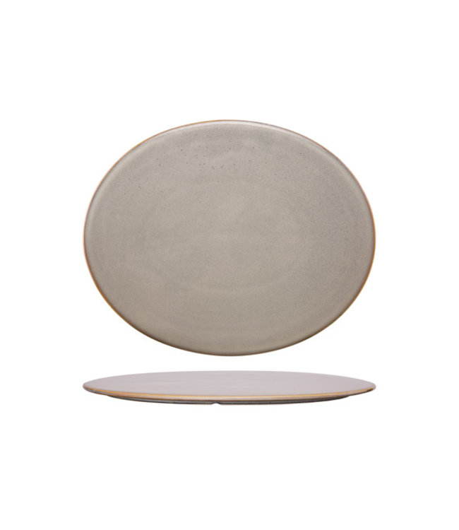 Cosy & Trendy Ararat - Plat Presentatiebord - 30,5x25cm - Ovaal - Keramiek - (Set van 3)