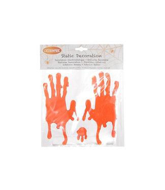 Goodmark Vensterdeco Gel Bebloede Handen 20x20cm (set van 24)