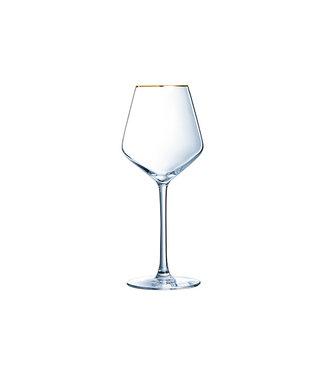 Eclat Ultime - Goud Boord - Wijnglas - 38cl - (set van 8)-