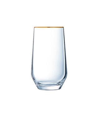 Eclat Ultime - Gouden Boord - Waterglas - 40cl - (Set van 8).