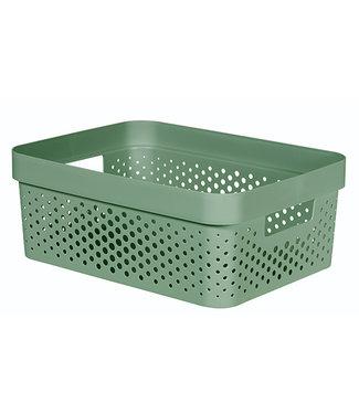 curver Infinity Recycled Box 11l Dots Groen35.6x26.6xh13.6cm (set van 6)