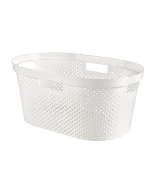 curver Infinity Recycled Wasmand Dots 40l Wit58.5x38xh26.5cm