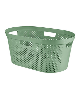 Curver Infinity Recycled Wasmand Dots 40l Groen58.5x38xh26.5cm