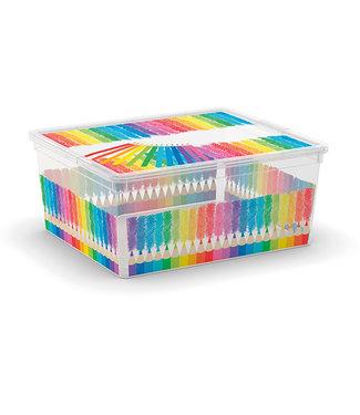 Kis C-box - Opbergbox - Arty Colours M - 18 lIter - 40x34xh17cm - (Set van 6)