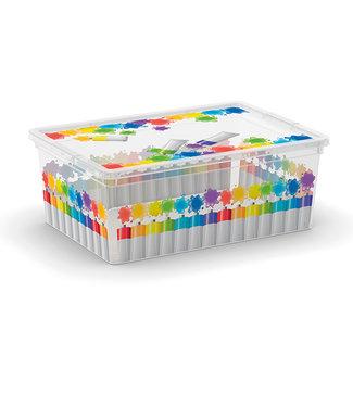 Kis C-box - Opbergbox - Arty Colours S - 11 Liter - 37,5x26xh14cm - (Set van 6)