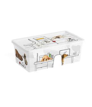 Kis Pets C-box - Opbergbox Xs - 6 Liter - 33,5x19xh12cm - (Set van 6)