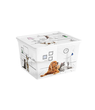 Kis Pets C-box Cube - Opbergbox - 27 Liter - 34x40xh25cm - (Set van 6)