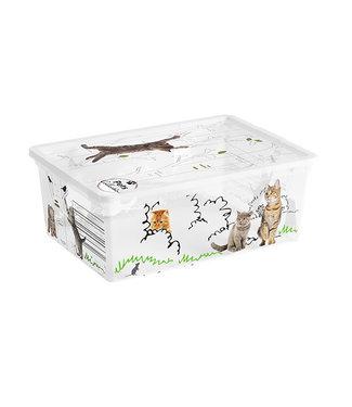 Kis Pets C-box - Opbergbox S - 11 Liter - 37,5x26xh14cm - (Set van 6)