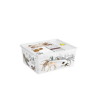 Kis Pets C-box - Opbergbox M - 18 Liter - 40x34xh17cm - (Set van 6)
