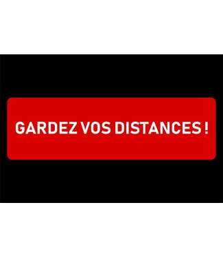 Brandless Deurmat 60x90cm Gardez Vos Distancesfrans - Polyamide-latex