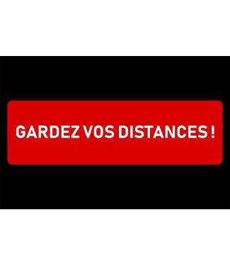 Brandless Doormat 60x90cm Gardez Vos Distancesfranzosisch - Polyamide-latex
