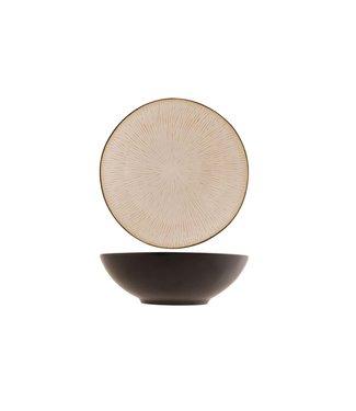 Cosy & Trendy Galassia-Weiß - Tiefe Platten - D19xh6.5cm - Keramik - (6er Set)