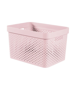 Curver Infinity Recycled Box 17l Pink 35,6x26.6xh21,8cm (set of 5)