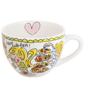 Blond Amsterdam Even Bijkletsen Kaffeetasse Pink