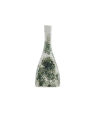 Cosy @ Home Vase Glazed Grey Bottom Weiss 19,5x19,5xh41cm Kugel Steinzeug