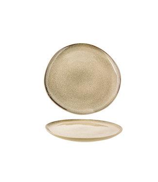 Cosy & Trendy Oona-Sand-Green - Dessertborden - D21xh2cm - Keramiek - (Set van 6).