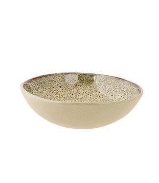 Cosy & Trendy Oona-Sand-Green - Deep Plates - D19xh5,5cm - Ceramic - (Set of 6)