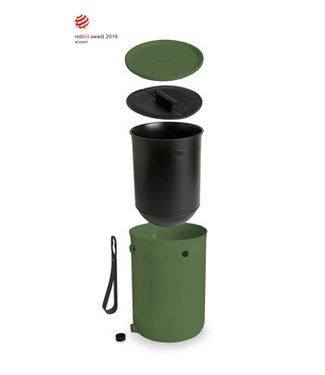 Skaza Bokashi-Organico-2 - Compostbak - Groen - 1kg Brain - 23.3xh32.3cm-