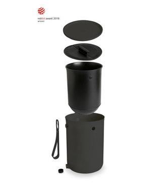 Plastika Skaza Bokashi-Organico-2-Ocean - Kompostbehälter - Schwarz - 1 kg Gehirn - 23,3 x 32,3 cm