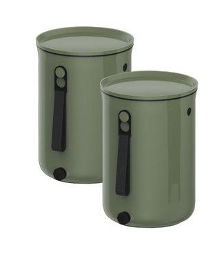Plastika Skaza Bokashi Organico 2 S2 Compostbak Groen23.3x32.5cm-compostbak 9.6l-2kg Brain