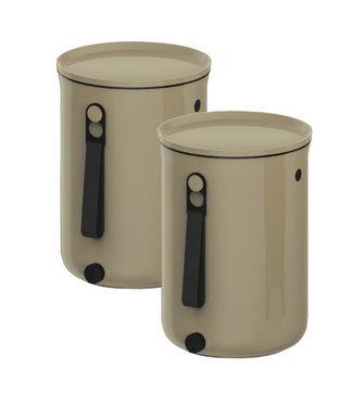 Plastika Skaza Bokashi Organico 2 S2 Compostbak Beige23.3x32.5cm-compostbak 9.6l-2kg Brain