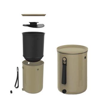 Plastika Skaza Bokashi-Organico-2 - Kompostbehälter - Beige - 1 kg Gehirn - 23,3 x 32,3 cm