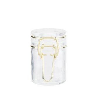 Cosy & Trendy Glass Jar 5 Clgold Metal Set 12